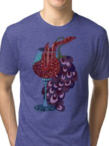 Wine and grapes illustration Tri-blend T-Shirt