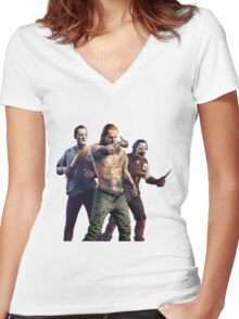 The Witcher 3 Joker gang Women's Fitted V-Neck T-Shirt