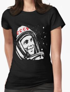 Yuri Gagarin Womens Fitted T-Shirt