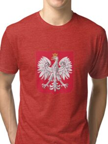 Polish Eagle Shield Tri-blend T-Shirt