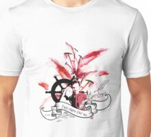 Captain Swan Flowers Unisex T-Shirt