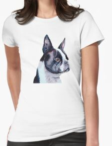 Boston Terrier - USA Womens Fitted T-Shirt