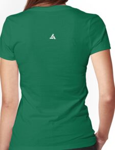 Assassin's Creed Movie : Abstergo lab experiment logo back Womens Fitted T-Shirt