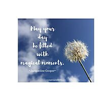 Dandelion in the Sky with Quote Photographic Print