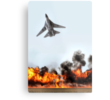 F111 with Fire, Adelaide Air Show  Metal Print