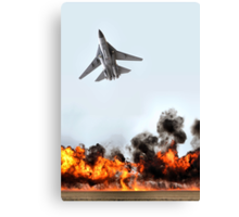 F111 with Fire, Adelaide Air Show  Canvas Print