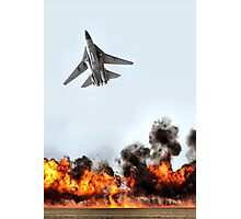 F111 with Fire, Adelaide Air Show  Photographic Print