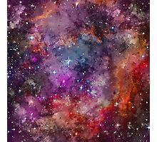 Galaxy - Under The Wing of The Small Megallenic Cloud - Watercolour Photographic Print