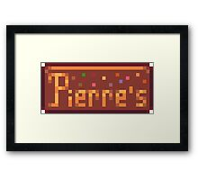 Pierre's Store Sign Framed Print