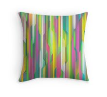 Futuristic Brights Throw Pillow