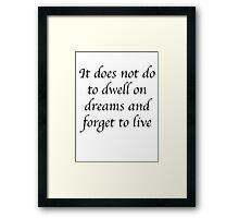 Albus Dumbledore Framed Print