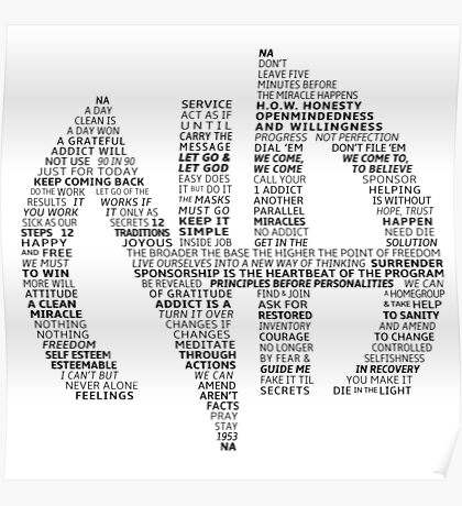 Narcotics Anonymous Logo (in slogans) Poster