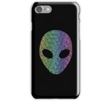 Coloured Alien Typograph iPhone Case/Skin