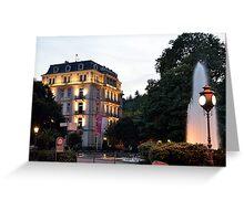 Baden-Baden Twilight, Germany Greeting Card