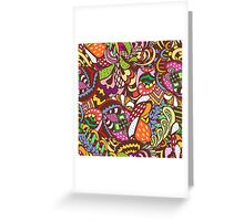 abstract colored pattern Greeting Card