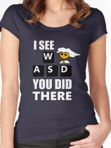 I see WASD you did there - Steam PC Master Race Women's Fitted Scoop T-Shirt