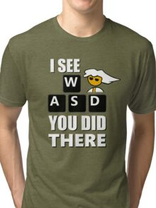 I see WASD you did there - Steam PC Master Race Tri-blend T-Shirt
