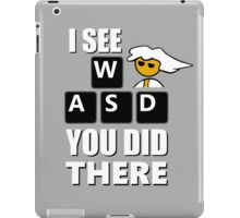 I see WASD you did there - Steam PC Master Race iPad Case/Skin