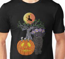 Cat Halloween Flowers Unisex T-Shirt