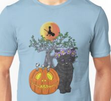 Cat Halloween Flowers Unisex T-Shirt