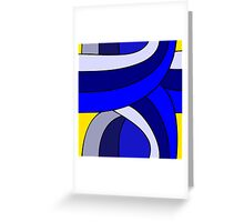 Weaving Pattern Blue Greeting Card