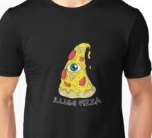 Illumi Pizza Illuminati Funny Eye Conspiracy Theory T-Shirt Unisex T-Shirt