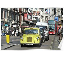 Yellow Taxi, London Poster