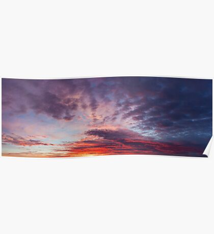 Beautiful colors sunset clouds Poster
