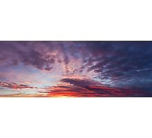 Beautiful colors sunset clouds Photographic Print