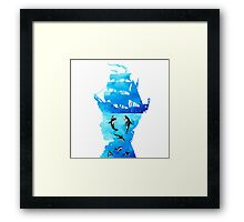 Swimming With Whales Framed Print