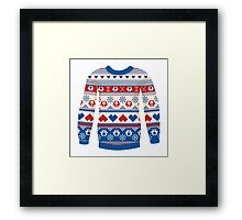 Cozy sweater Framed Print