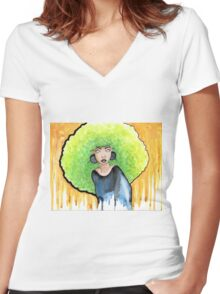 Absynthe ~ La Fée Verte Women's Fitted V-Neck T-Shirt