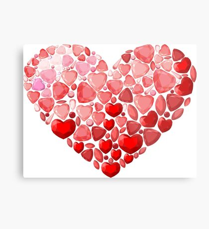 Jewel heart Metal Print