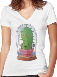 Cactusfranck Women's Fitted V-Neck T-Shirt