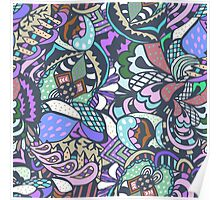 abstract colored pattern Poster