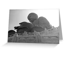 Hong Kong Big Buddha I Greeting Card