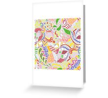 abstract light colored pattern Greeting Card
