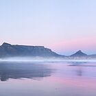 Pastel Dawn over Table Mountain, Cape Town by SeeOneSoul