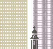 Omaha skyline poster Sticker
