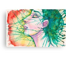 Green Splash Canvas Print