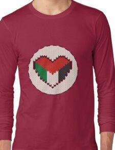 Palestine knitted heart  Long Sleeve T-Shirt