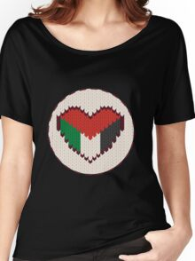 Palestine knitted heart  Women's Relaxed Fit T-Shirt