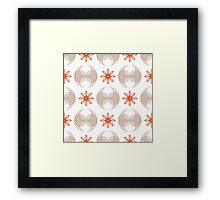 geometric flowers and forms like wings Framed Print