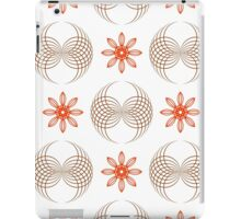 geometric flowers and forms like wings iPad Case/Skin