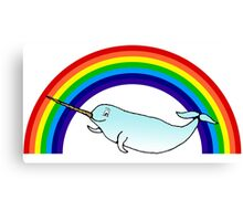 Narwhal and Rainbow Canvas Print