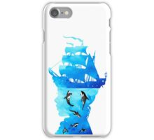 Swimming With Whales iPhone Case/Skin