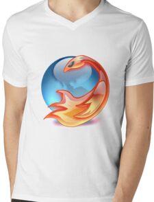 FIREFOX FAN Mens V-Neck T-Shirt