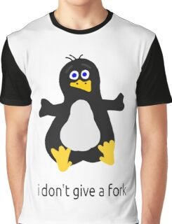 I DONT GIVE A FORK ! LINUX FAN Graphic T-Shirt