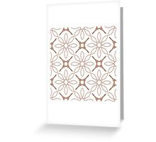 four angle stars and dashed line flowers Greeting Card