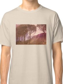 Mountains through the trees Classic T-Shirt
